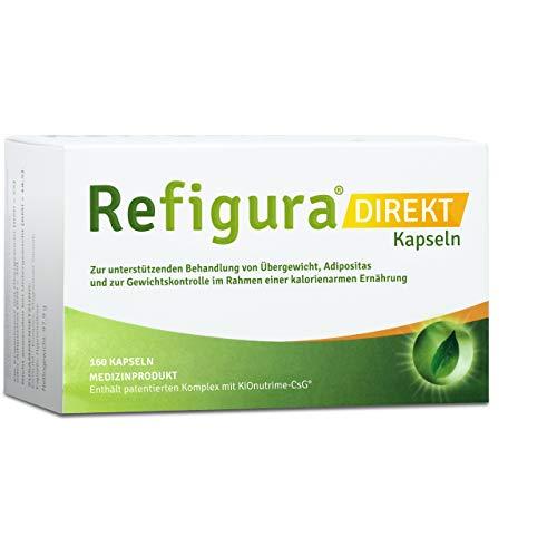 Refigura Direkt: Appetitzügler zum Abnehmen/zur Gewichtskontrolle, pflanzlich, vegan, Kapseln, 160 Stk.