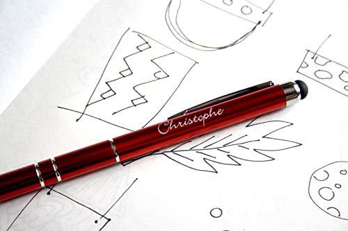 Penna in metallo personalizzata con incisione nome o testo a scelta, regalo personalizzabile, penna in metallo rossa