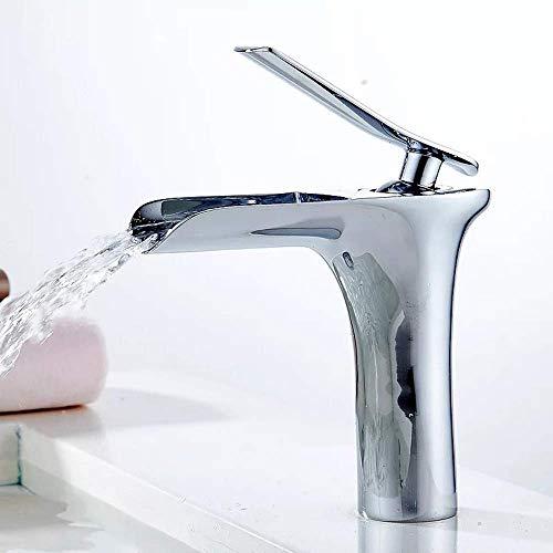 YO-TOKU warm en koud water koper enkele gat wastafel badkamer kast waterval onder aanrecht wastafel kraan elegante kraan voor badkamer woondecoratie