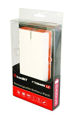 iconBIT FTB10400LZ Portable power bank weiß/orange