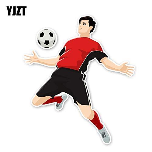 JYIP 14.2 * 12.4CM Bewegung Fitness Fußball Auto Aufkleber Zubehör Fenster 11A-1854