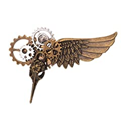 Vintage Medieval Victorian Hair Clip Handmade Gothic Hairpin Material:antique brass gears,pins,clockwork Hallowmas Cosplay, Larp Props Can be used as hair pin or brooch