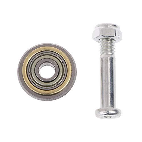 SHOTAY, Cortador Manual de Ladrillos para Azulejos, reemplazo de Rueda de rodamiento Giratorio para máquina cortadora de 22 mm Plateado