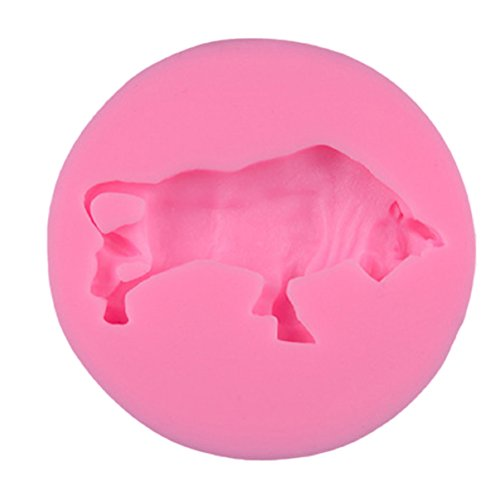 BESTONZON moules Vache en Silicone pour DIY de Bricolage en Rose