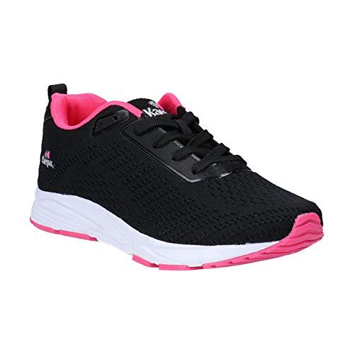 [ケイパ] スニーカー レディース KPL02097 ブラック/ピンク・ネイビー/Sピンク 22.5cm〜24.5cm 軽量 幅広 ローカット おしゃれ ジョギング シューズ 靴 ブラック/ピンク 24.5cm
