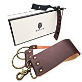 Seeyo Straight Razor with Premium Leather Strop - Straight Razor Shaving Kit for men - Stainless Steel Blade with Micarta Stylish Handle - 2 Layers Leather Canvas Sharpening Strap.(Black)