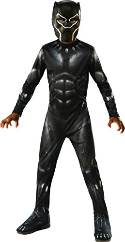 Avengers - Black Panther Kostüm für Kinder, Black Panther, Large (Rubie'S 641046-L)