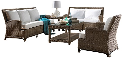 Panama Jack Sunrooms 5 PCPJS-3001-S Exuma 5 Piece Living Set with Cushion, Sunbrella Air Blue