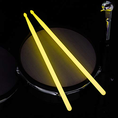 MELAG Drumsticks hochwertiges 4 Drum Sticks (2 Paare) Drum Drum Stick Bunte Fluoreszierende Bühnenleistung Leuchtender Drum Stick Jazz Drum Snare Drum Hammer Drumstick Stick