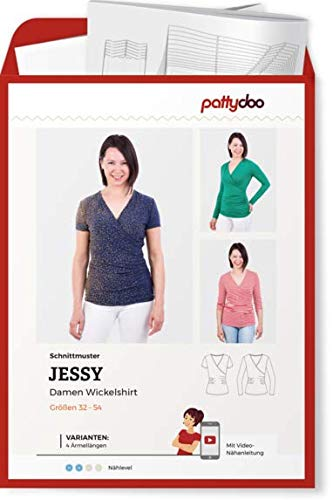 Schnittmuster Pattydoo Jessy Damen Wickelshirt Gr. 32-54 Papierschnittmuster