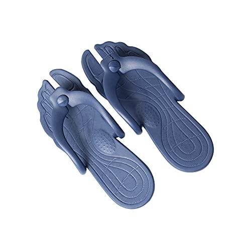 Mask.ok Infradito Ciabatte in Gomma comode Pantofole Sandali Pieghevoli da Viaggio Spiaggia Valigia Doccia Bagno Impermeabili per Uomo Donna Unisex (XL (41-42), Blu)