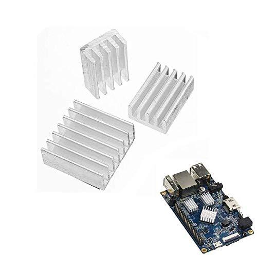 weichuang Accesorios electrónicos 5X adhesivo de aluminio disipador de calor kit de refrigeración para naranja Pi PC/Lite/Uno piezas electrónicas Accesorios electrónicos