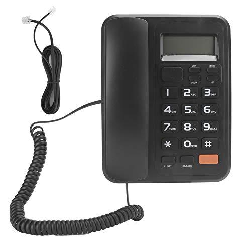 Teléfono digital colocado en el escritorio para personas mayores, teléfono fijo con contestador automático, sistema dual FSK / DTMF, LED de 5 niveles, 24 tonos de llamada para elegir para el hogar