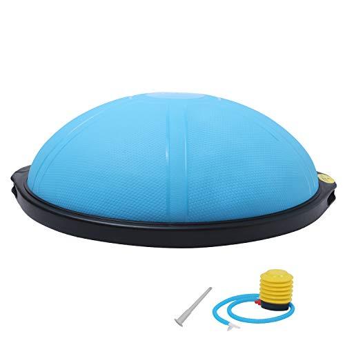 ISE Ø66 cm Balance Trainer Balance Ball Trainingshalbball mit Pumpe beidseitig nutzbar für Yoga Gymnastik,GS-geprüft (Blau)