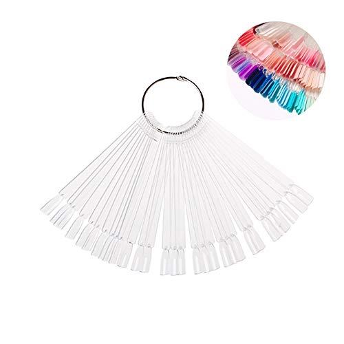 Pinkiou Nagelfarbdisplay klebt Nagelfarbe Radringmuster für Nagellackgel Farbdisplay (transparent)