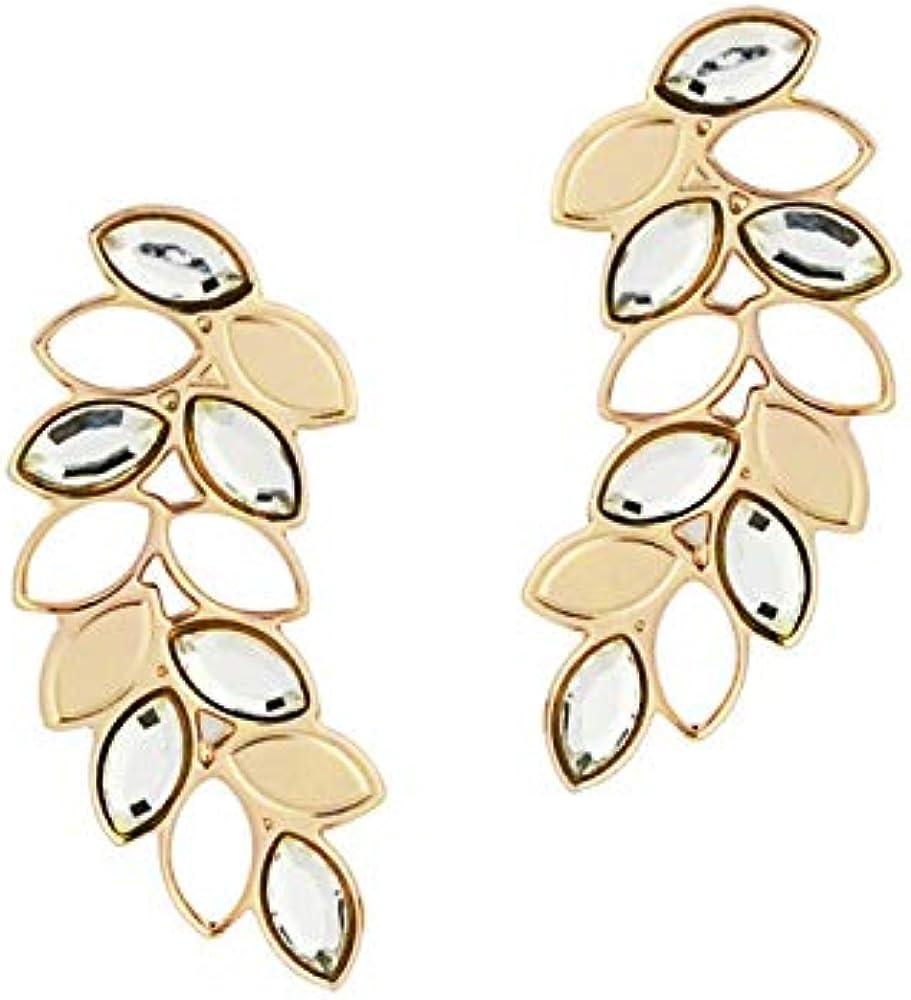 Boccadamo, orecchini per donna,in bronzo placcato oro giallo con spiga di grano pendente e cristalli swarovski XOR436D