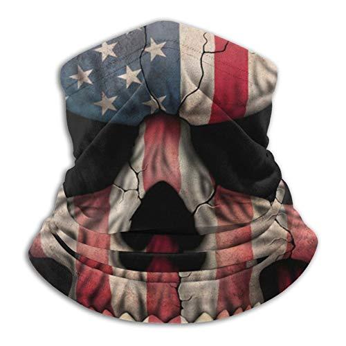 Calavera reflectante bandera americana etiqueta unisex protector solar bufanda lavable pasamontañas mágica bufanda
