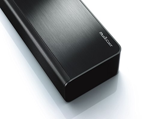 Yamaha MusicCast BAR 400 (YAS-408) Soundbar e subwoofer – Sistema dolby sorround con diffusore centrale e subwoofer wireless, per Home Cinema 3D 4k – Multiroom, WiFi, Airplay, Bluetooth 4.2, Nero