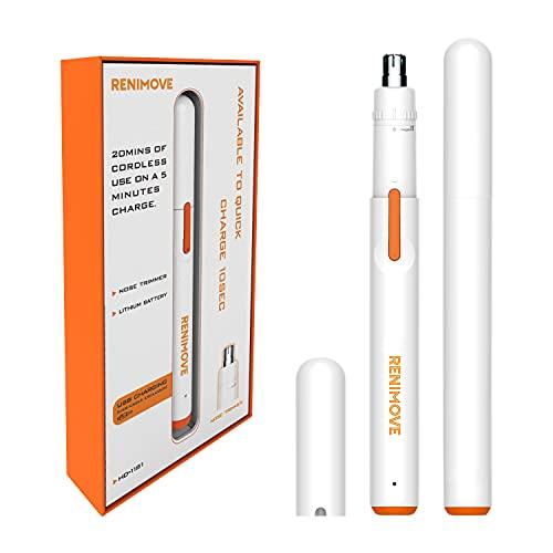 Cortapelos nariz y oreja resistente agua USB recargable tamaño compacto diseño innovador...