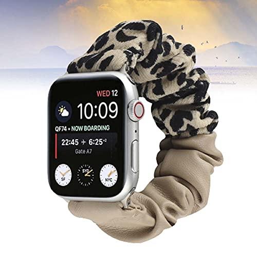 KAEGREEL Reemplazo de Pulseras de Reloj elásticas para Apple Watch, Correa de Reloj de Repuesto Deportiva de Tela Estampada con patrón Suave para iWatch Series 6/5/4/3/2/1,42/44mm