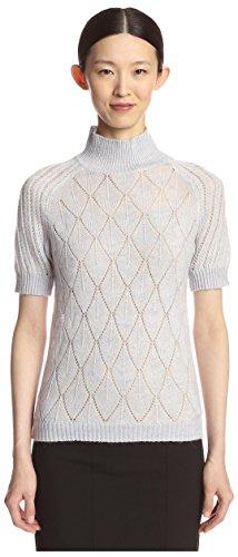 byTiMo Damen-Pullover, kurzärmelig, T-Ausschnitt - - Mittel