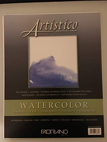 Fabriano Artistico 140 lb. Cold Press 10-Pack 11x14' - Extra White