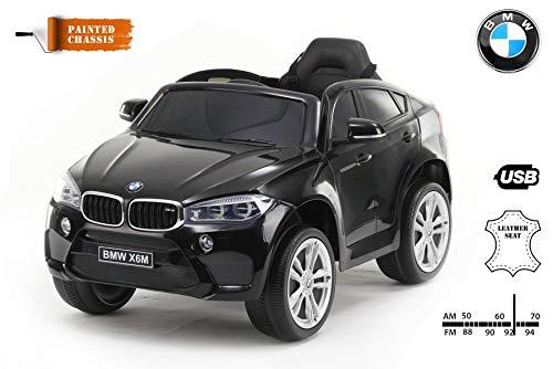 RIRICAR Coche eléctrico BMW X6M Nuevo - Asiento Individual, Pintado en Negro,...