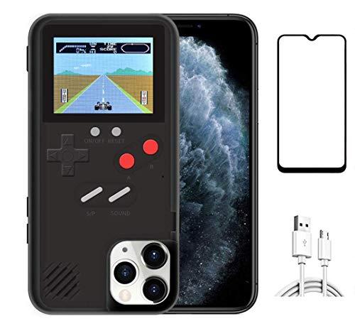Homi2019 - Carcasa para iPhone 12 Pro (6,1 pulgadas), diseño retro 3D con 36 juegos pequeños, pantalla a todo color, resistente a golpes de videojuego (incluye protector de pantalla de teléfono)