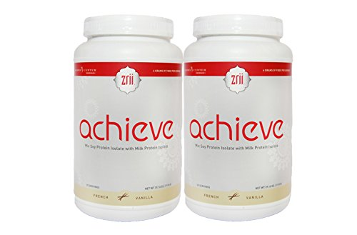 2x Zrii ACHIEVE Mix Soy Protein Isolate with Milk Protein Isolate French Vanilla ( 39.16 ounce ) by Zrii