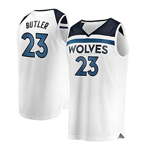 ZRHZB Camiseta de Baloncesto Butler 23# Camiseta del Equipo Timberwolves (Blanco), Chaleco Deportivo Sin Mangas, Entrenamiento de Verano, Senderismo, El Compañero Más Cercano del Juego,M