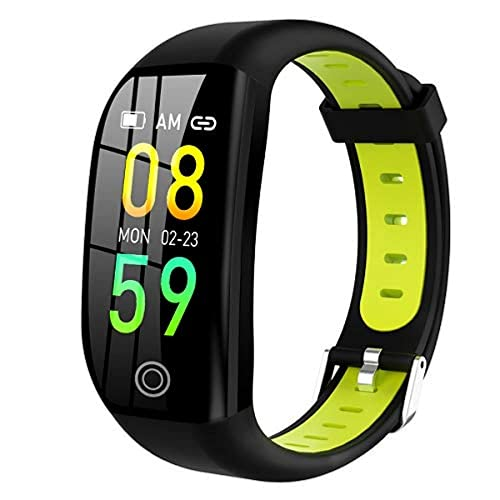 Rastreador de actividad y fitness con monitor de frecuencia cardíaca, monitor de sueño, contador de calorías y más rastreador de actividad (verde)