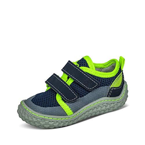 RICOSTA Pepino Niños Zapatos Bajos Peppi, Chico Zapatos con Cierre de Velcro,Descalzo,Flexible,Ligero,Normal (WMS),Nautic,25 EU / 7.5 Child UK