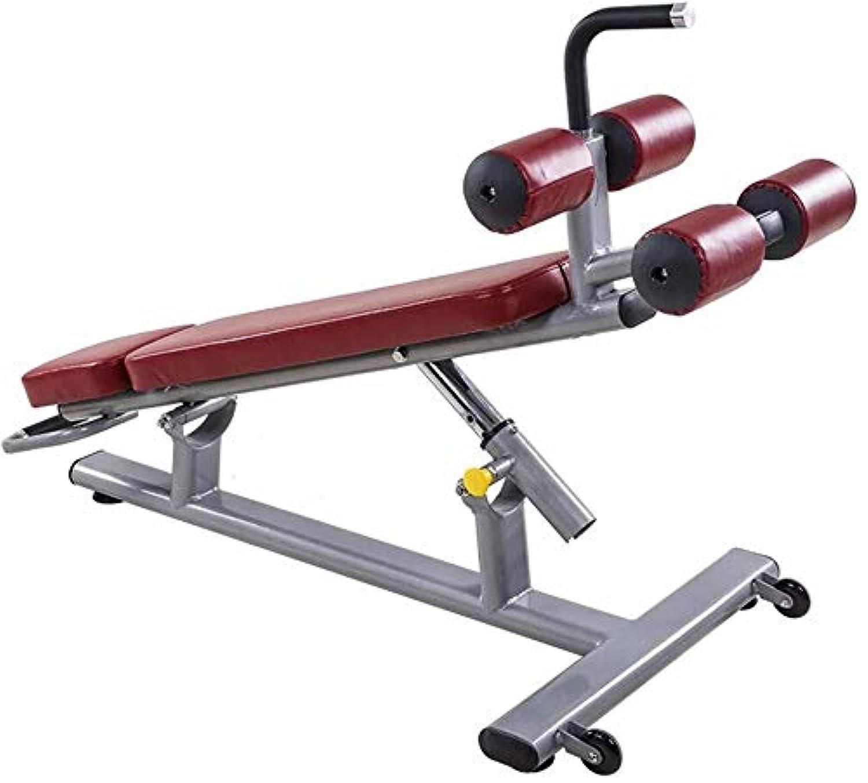 それら剃るマチュピチュYSYYSH ホーム折りたたみ椅子フィットネスシットアップトレーナー フィットネスチェア (Color : Red, Size : 125*72*96cm)