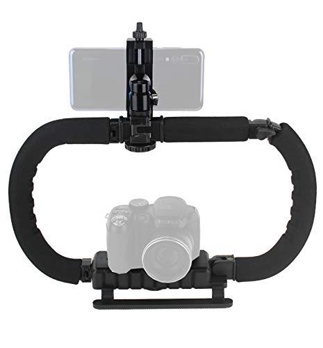 Stabilisator für Kamera Smartphone GoPro DSLR/spiegellose/Action Kamera Camcorder, Faltbarer Griff Griff Handheld Video Rig Steadicam für alle GoPro, Kamera, Camcorder, iPhone, Huawei, Samsung etc.