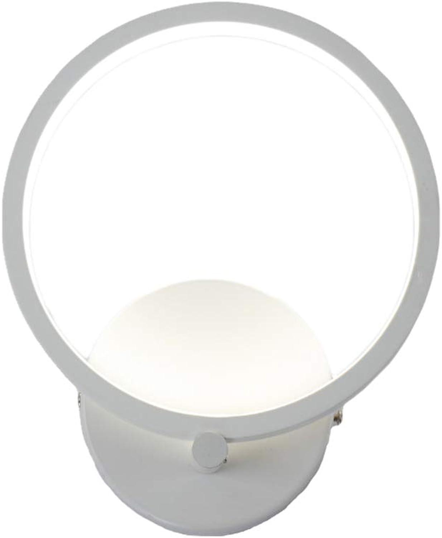 LED-Wandleuchte Nachttischlampe Kreative Runde Wandleuchte Mode Minimalistischen Aluminium Wandlampe Wohnkultur Moderne Lampe Wohnzimmer, Schlafzimmer, Restaurants, Indoor-Beleuchtung