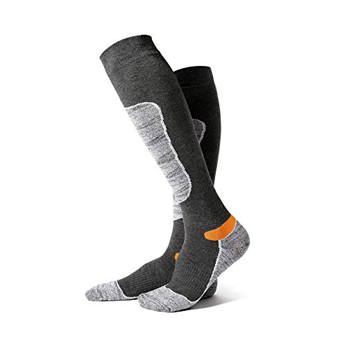 Rysmliuhan Shop calcetines antideslizante hombre calcetines ciclismo hombre Calcetines térmicos gruesos para hombre Calcetines de los hombres gray,m