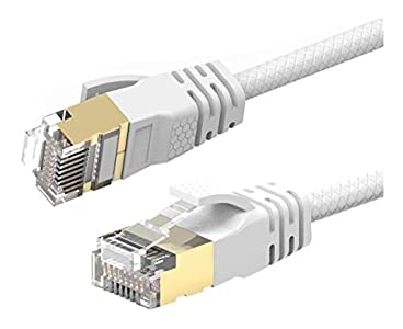 Reulin - Cable de red Gigabit Ethernet de 12 m Cat 7A ultra delgado, velocidad de hasta 40 Gbs-1000 MHz compatible con Cat5 Cat6 Cat7 Cat7A+ Router módem para redes de alta velocidad