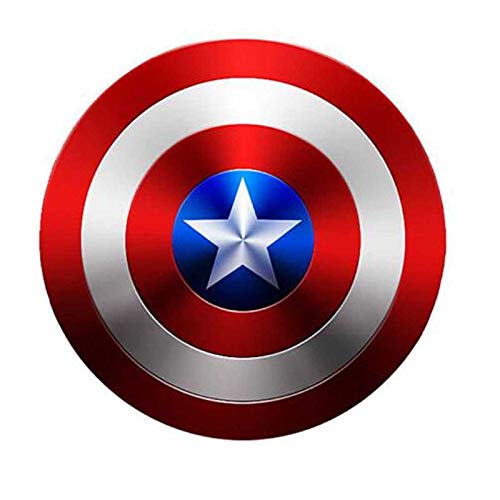 sookin Captain America Schild Superheld Spielzeug Metall Cosplay Requisiten Soldat Retro KostüM Schild Halloween American Shield füR Erwachsene Und Kinder Toy Up KostüMe Anzug 18 Zoll