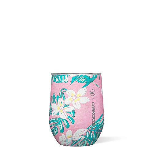 Corkcicle, Stemless Vineyard Vines Tropical 12 Ounce