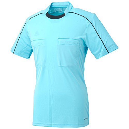 adidas Unisex Trikot Referee 16, glow blue/black, L, AJ5916