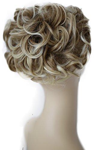 PRETTYSHOP Dutt Haarteil Zopf Haarknoten Hepburn-Dutt Haargummi Hochsteckfrisuren Gewellt Blond Mix HK112