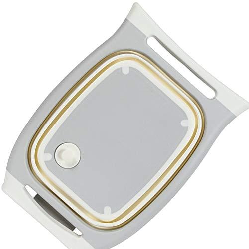 YLCCC Cutting Board Multi-Functional 3 in 1 Chopping Board Detachable Folding Drain Basket Sink Cutting Board Kitchen Tools,Grey