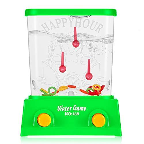 Juego de Arcade de Agua de Mano Mini Juego de Anillo de Agua para Juguetes de Playa Juguetes de Pasatiempo Retro de Fiesta (sin Agua)