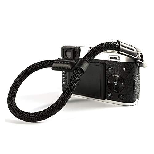 YPASDJH Sencillez Muñeca Digital a Mano de Nylon Muñeca Digital Strap Strap Grip Paracord Muñequera Trenzada for Fuji X-T20 X-T1 X-T2 X-E3 X-T10 X-H1 X-A2 Accesorios para cámaras (Color : Black)
