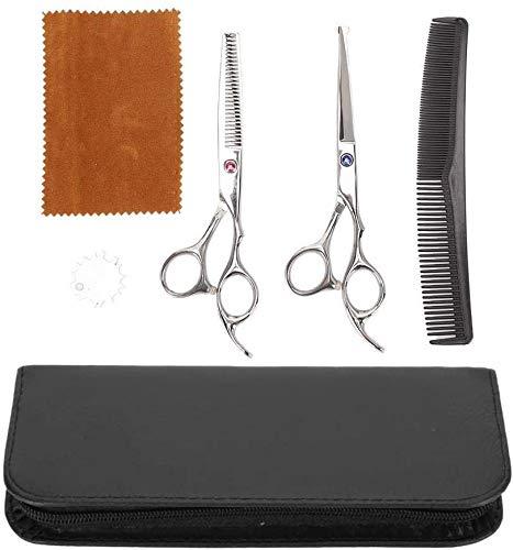 Tijeras Kit de corte de pelo profesional, herramientas de corte de pelo tijeras adelgazamiento del cabello con un paño peine bolsa for salón de belleza y uso en el hogar, azul púrpura diamantes de imi
