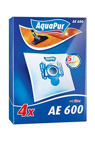 AquaPur Staubsaugerbeutel - 4 Tüten + 1 Filter AE 600