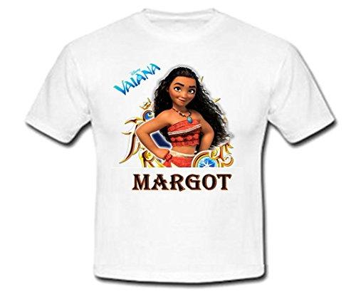 GRAVOPHOTO Tshirt personnalisé Vaiana prénom et Taille au Choix