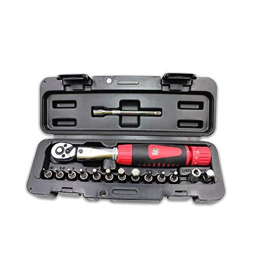 KKmoon DR 2-24 Nm Drehmomentschlüssel Kits für Fahrräder Mini Werkzeug Einstellbare Drehmomentschlüsselsätze