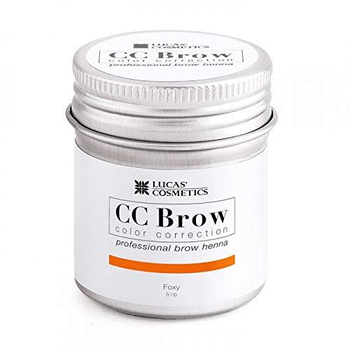 Lucas Cosmetics - Henné CC Brow, henné castano per sopracciglia, prodotto professionale, 5 g