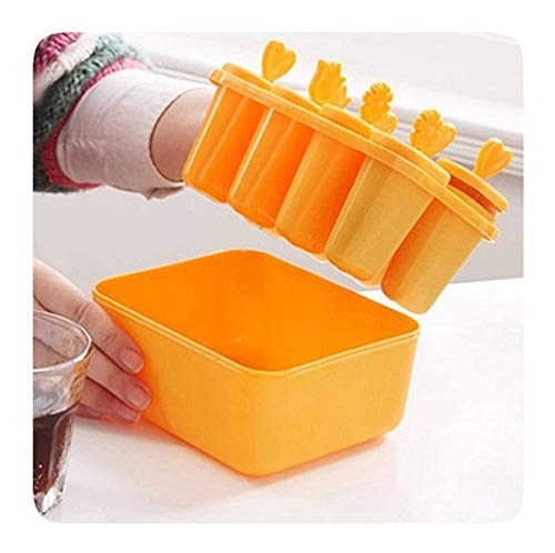 Pop Vormen Diepvries Pop Maker, Makkelijk Te Ontgrendelen Popsicle Molds Ice Pop Maker Kitchen Frozen Ice Cube Vormen Popsicle Maker DIY Ice Cream Gereedschap Koken Tools For Making (Color : Yellow)